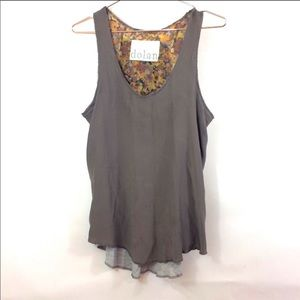 Dolan Anthropologie Women's Gray Blouse Size Small